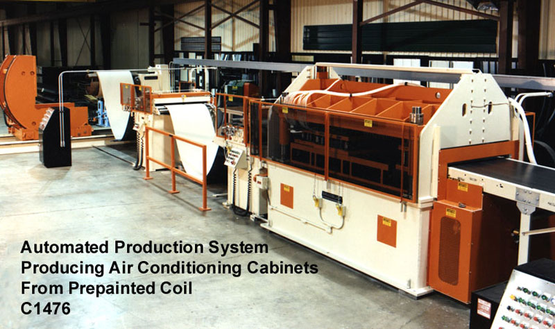 Automated Production Systems Producing Air Conditioning Cabinet from Prepainted Coil