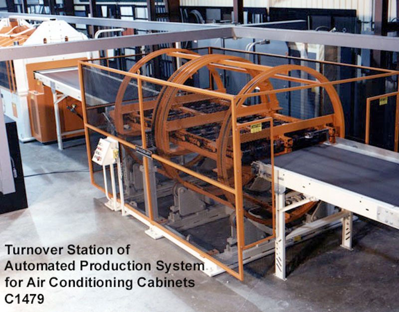 Automated Production Systems Turn-over Station for Air Conditioning Cabinets