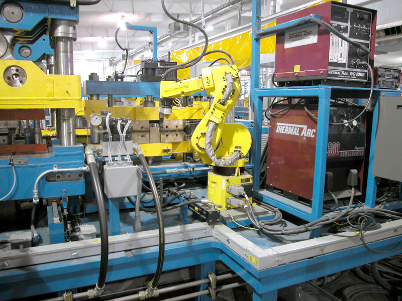 Automated Production Systems with inline robotic welding