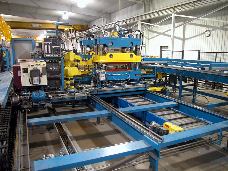 Automated Production System with Integrated robotic welding