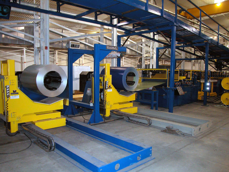 Coil Handling Sectional Rollforming Lines for Garage Doors