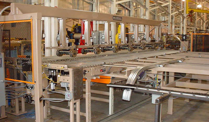 Garage Door Track Roll forming Line with Stacking