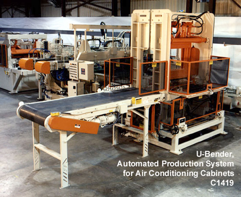 U Bender for air conditioning cabinets