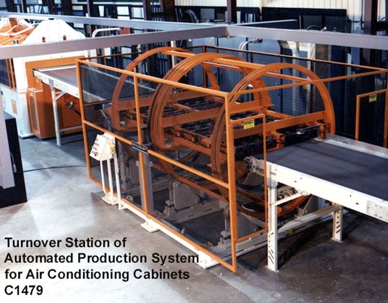 Turnover Station for Air Conditioning Cabinets