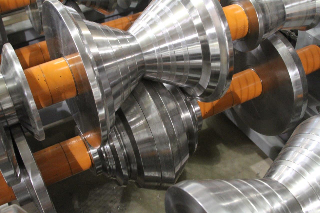 Bradbury Trim Rollformer minor rib tooling