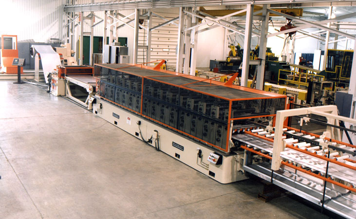 Bradbury Double High Roll forming line with Stacker