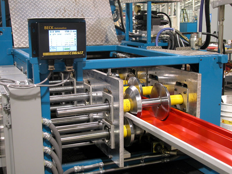 Bradbury Portable Rollforming Equipment with Beck Cobalt Control