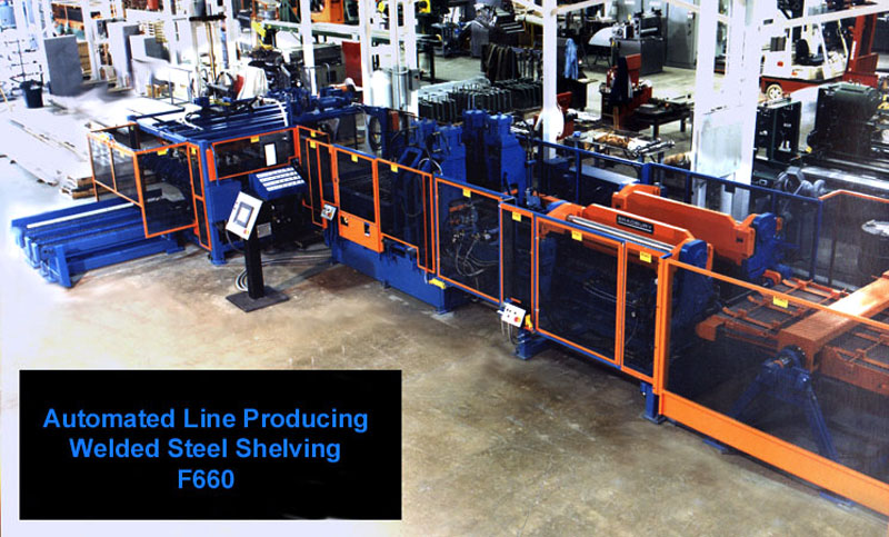 Bradbury Roll forming Equipment for Welded Steel Shelving and Racking