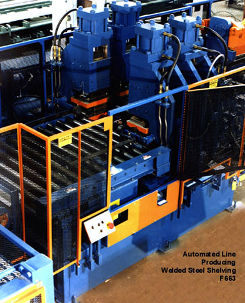 Welded Steel Shelving Production Line