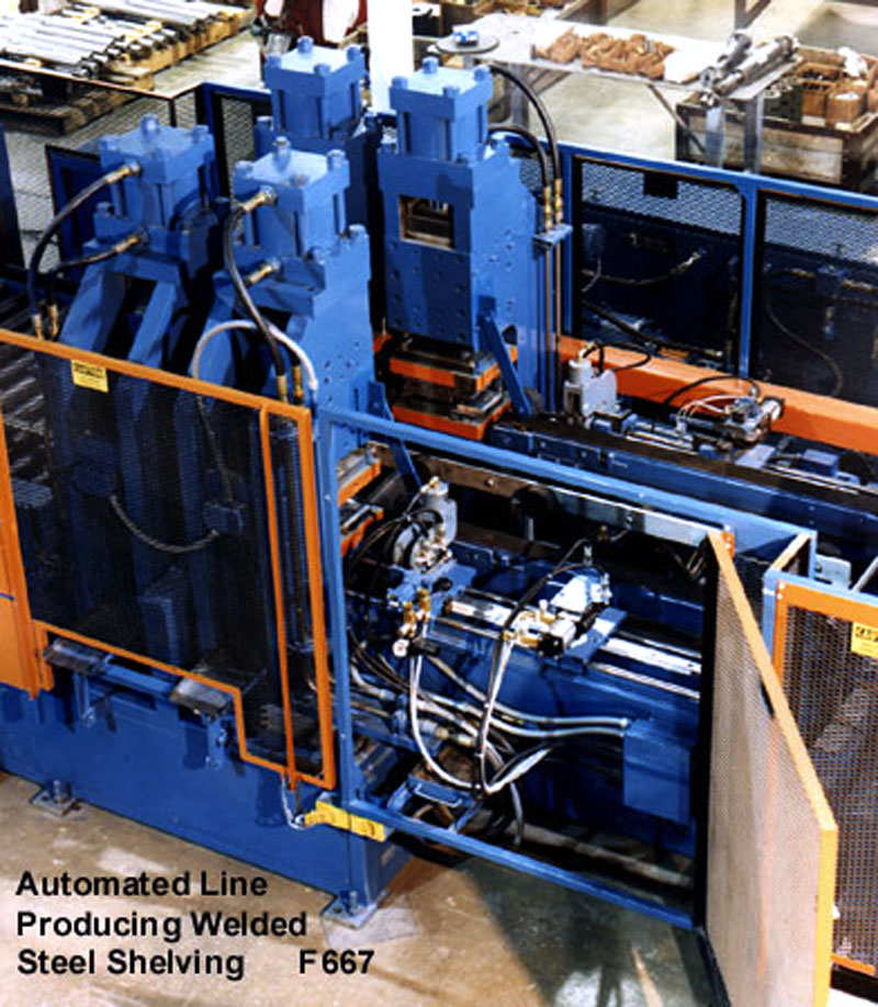 Automated Line producing welded steel shelving